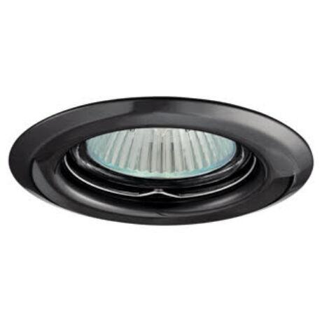 Greenlux Álmennyezeti beépíthető halogén fix spot lámpa króm fekete lámpatest AXL 2114-GM Greenlux GXPP010