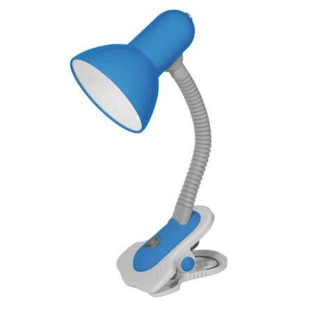 Kanlux Suzi íróasztali lámpa 60W csíptethető kék + ajándék izzó