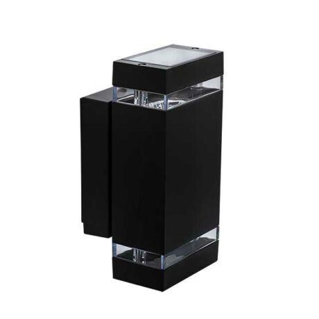 Kanlux kültéri fali fekete lámpa 2xGU10 IP44 ZEW 235J-B 22440