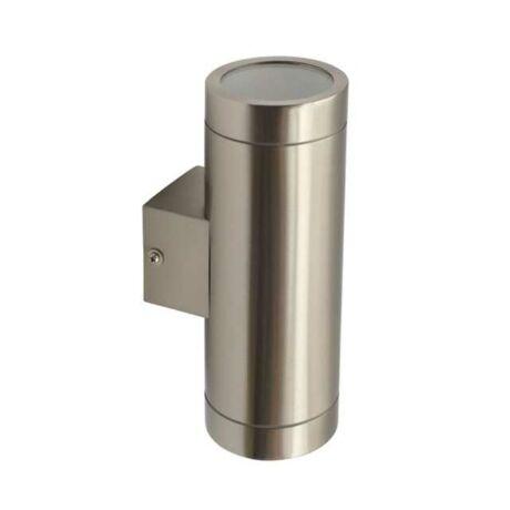 Kanlux kültéri fali lámpa acél 2xGU10 IP44 MAGRA EL-235 18011