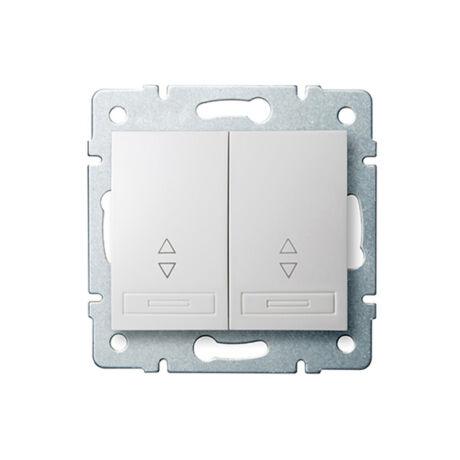 Kanlux DOMO 106+6 dupla váltókapcsoló keret nélkül fehér 24718