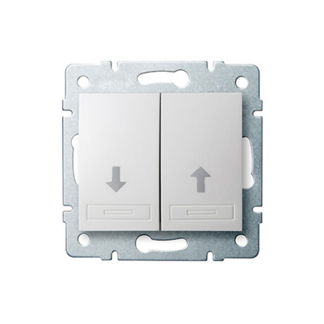 Kanlux DOMO redőnykapcsoló keret nélkül fehér 24722