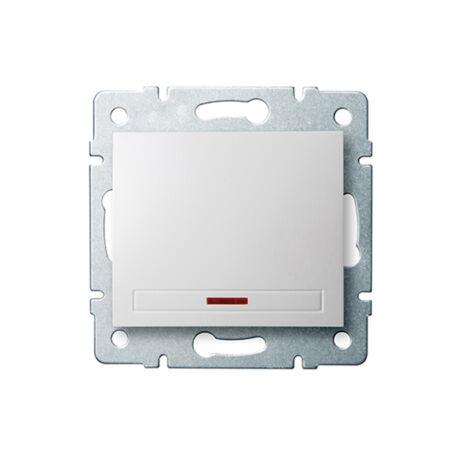 Kanlux DOMO 101 egypólusú kapcsoló jelzőfénnyel keret nélkül fehér 24723
