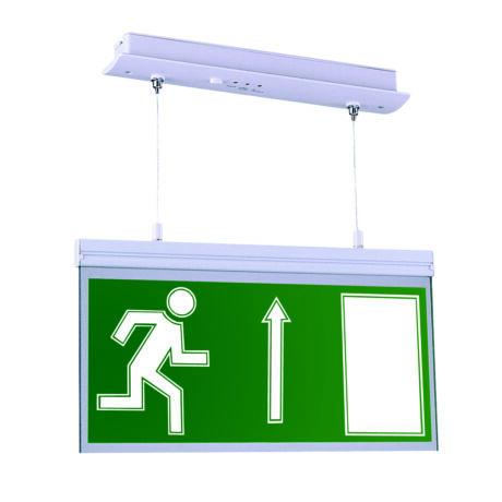 MLX állandó üzemű kétoldali LED vészvilágító kijáratjelző mennyezeti lámpa felfele nyíllal JM 219LED-A/F