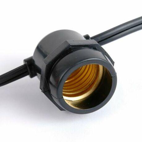 Optonica sorolható kültéri fényfüzér 15db E27 foglalattal 14.4m IP65