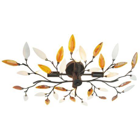 Lilian mennyezeti lámpa antik barna 4XE14 Rábalux 2849