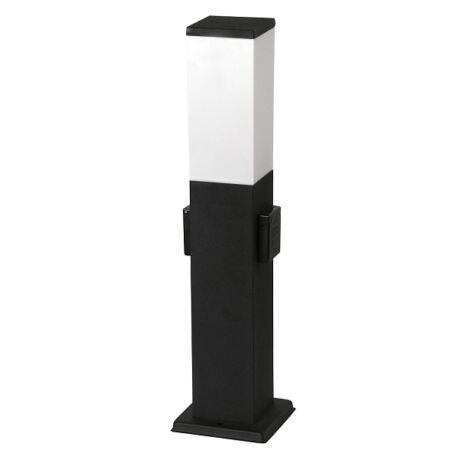 Bonn kültéri energiaoszlop lámpa 1XE27 kültéri dugaljjal szerelve IP44 matt fekete Rábalux 8339