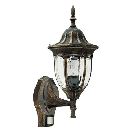 Milano kültéri falikar lámpatest mozgásérzékelővel E27 IP43 Rábalux 8370