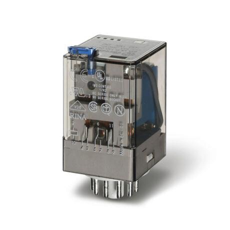 Relé 230VAC 3morze 10A tesztgomb+állapot indikátor- FINDER 60.13.8.230.0040