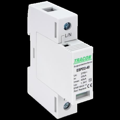 Tracon túlfeszültség korlátozó-levezető ESPD2-40-1P