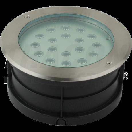 Tracon LED földbe taposólámpa 18W 1260 lm 4500K természetes fehér süllyeszthető lámpatest LGL18W