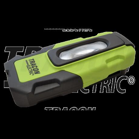 Tracon Akkumulátoros LED kézi lámpa USB töltő kimenettel 2 W 6000K 3,7V, 1800mAh, 200 lm, IP44, 3 h STLUSB2W