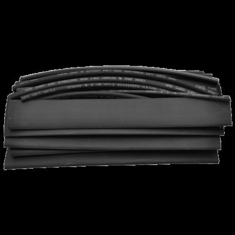 Zsugorcső szett-készlet 15×150 mm készlet, vékonyfalú, 2:1 zsugorodás, fekete ZSBB-SET