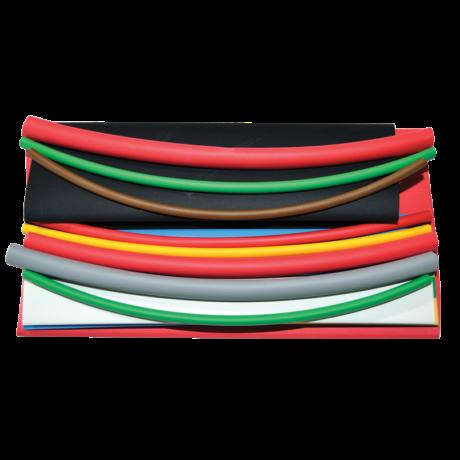 Zsugorcső szett-készlet 15×150 mm vékonyfalú, 2:1 zsugorodás, több szín ZSB-SET