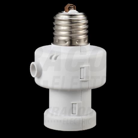 Tracon E27 foglalat alkonykapcsoló beépített kikapcsolás-időzítővel 5-15 lux ALK-472