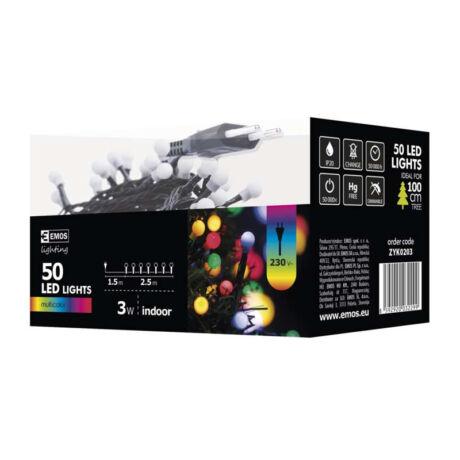 Emos cherry színes karácsonyi fényfüzér 2,5m 50LED IP20 ZYK0203