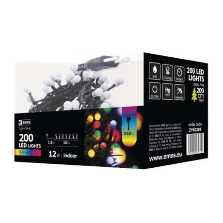 Emos cherry színes karácsonyi fényfüzér 10m 200LED IP20 ZYK0209