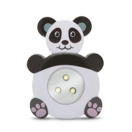 LED éjszakai irányfény nyomógombos lámpa panda maci 20273D