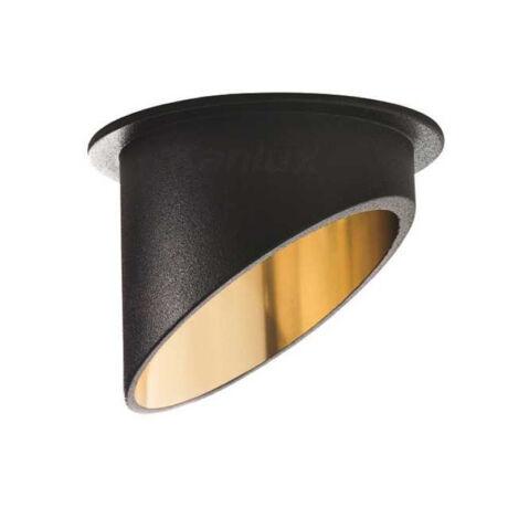 Kanlux SPAG C B/G álmennyezeti beépíthető spotlámpa fekete/arany IP20 27324
