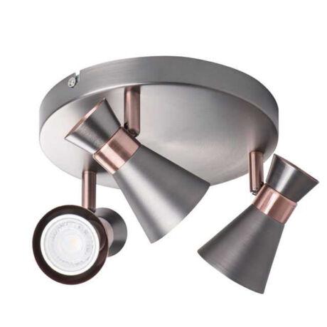 Kanlux MILENO EL-3O ASR-AN fali lámpa ezüst-réz 3xGU10 29113