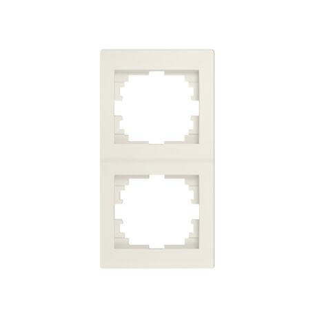 Kanlux LOGI függőleges 2-es keret krém 25181