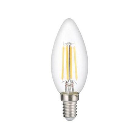 Optonica filament LED lámpa-izzó C35 gyertya E14 6W 6000K hideg fehér 1410