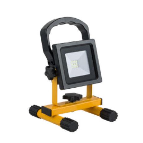 Optonica akkumulátoros hordozható LED reflektor 10W 6000K hideg fehér 600 lumen IP44 5401