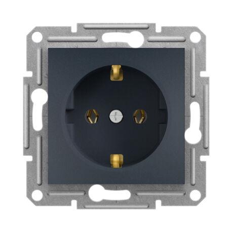 Schneider Electric Asfora 2P+F süllyesztett csatlakozóaljzat dugalj antracit EPH2900171