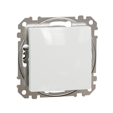 Schneider Sedna Design váltóérintkezős nyomó keret nélkül fehér SDD111116