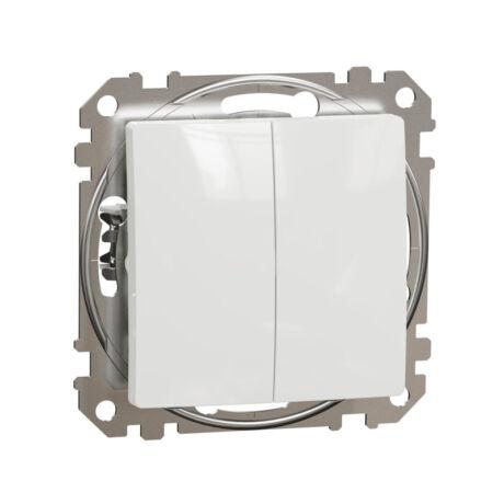 Schneider Sedna Design kettős nyomó keret nélkül fehér SDD111118