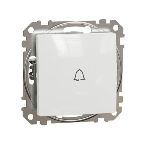 Schneider Sedna Design 101N egypólusú nyomó csengőjellel keret nélkül fehér SDD111131