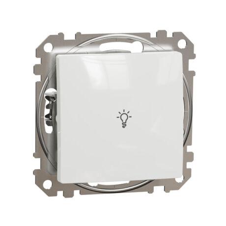 Schneider Sedna Design 101N egypólusú nyomó lámpajellel keret nélkül fehér SDD111132