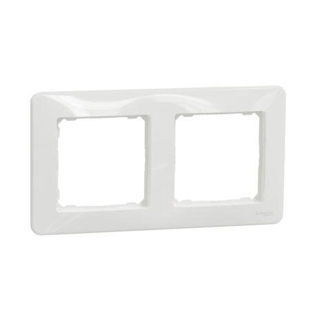 Schneider Sedna Design univerzális 2-es (kettes) keret fehér SDD311802