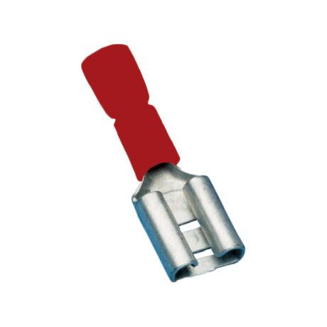 Tracon szigetelt rátolható csatlakozó csúszósaru hüvely 2,8×0,5mm 1,5mm2 piros PCSH3