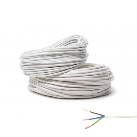 MT 3x0,5mm2 duplán szigetelt hajlékony sodrott réz kábel vezeték fehér H05VV-F
