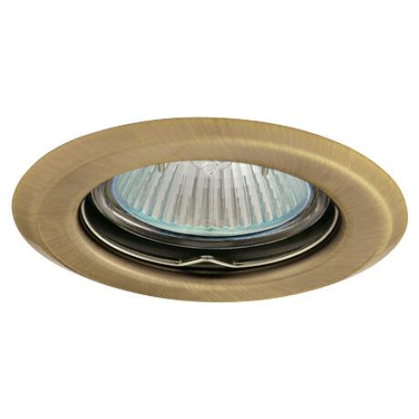 Greenlux Álmennyezeti beépíthető halogén fix spot lámpa matt sárgaréz fehér lámpatest AXL 2114-BRM Greenlux GXPP006
