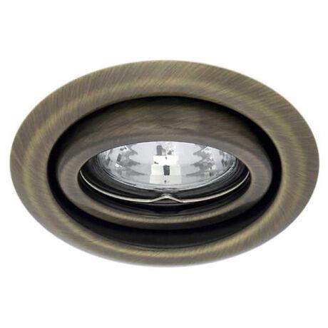 Kanlux álmennyezeti beépíthető spotlámpa billenthető 15° matt réz lámpatest Argus CT-2115-BR/M