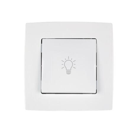 Elmark City N101 nyomó kapcsoló lámpa jelzéssel fehér süllyesztett