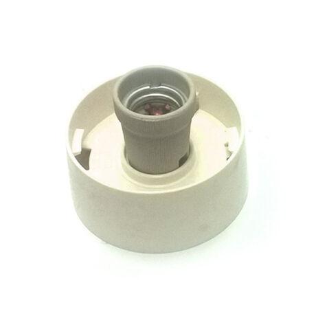 E27 műanyag lámpa alj 60W porcelán foglalattal egyenes (mennyezeti vagy fali szerelés)