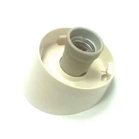 E27 műanyag lámpa alj 60W porcelán foglalattal ferde (falra szerelhető)