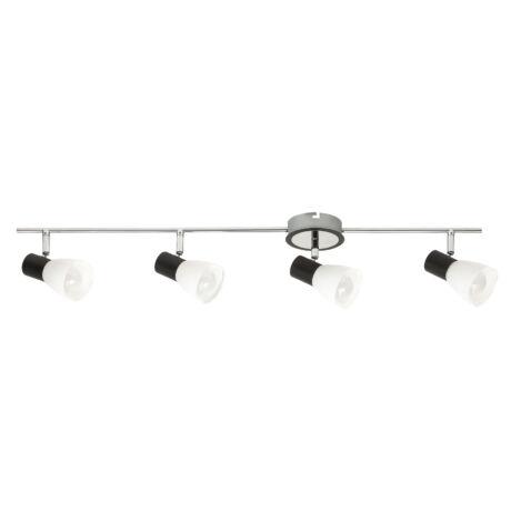 Ati fali spot lámpa kapcsolóval E14x4 fekete, króm, fehér Rábalux 5979