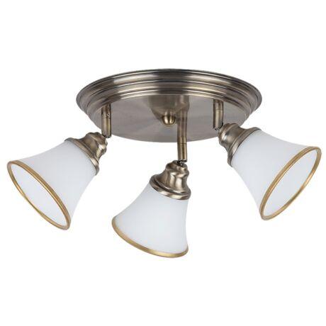 Grando E14 foglalatú fürdőszobai 3-as mennyezeti lámpatest Rábalux 6548