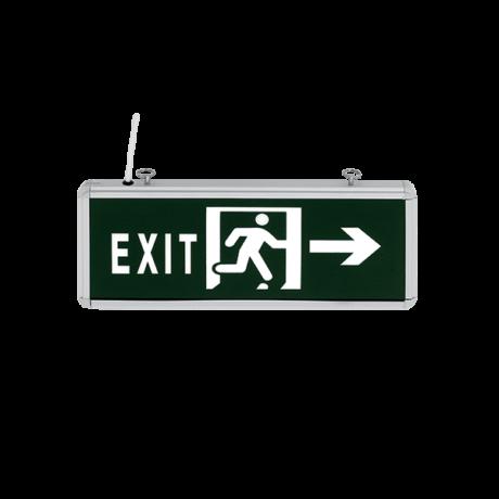 Elmark állandó üzemű LED kétoldali vészvilágító kijáratjelző lámpa oldalra futó ikonnal 3W IP21 9XL88LED