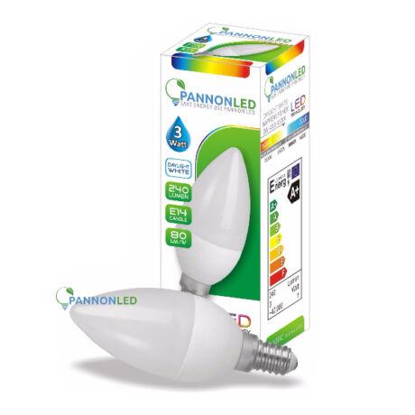Led gyertya lámpa-izzó E14 3W 4500K természetes fehér (PL) Kiárusítás