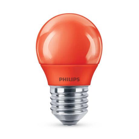 Philips LED lámpa-izzó P45 E27 3,1W piros