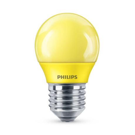 Philips LED lámpa-izzó P45 E27 3,1W sárga