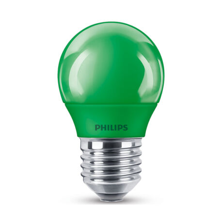 Philips LED lámpa-izzó P45 E27 3,1W zöld