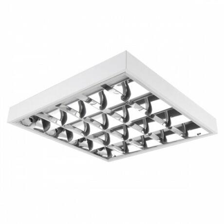 Elmark 4x18W LED Dupla parabolatükrös  60cm falon kívüli armatúra hideg fehér led fénycsővel 2520lm lámpatest 9LOM460LEDCW