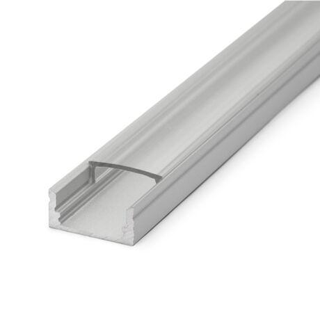 Alumínium led profil sín átlátszó takaró búra 1m (csak búra)