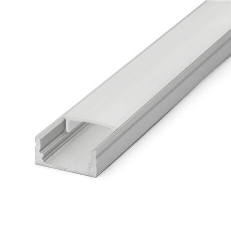 Alumínium led profil sín opál takaró búra 1m (csak búra)